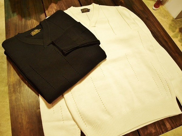 CALEE キャリー COTTON V NECK SWEATER.JPG