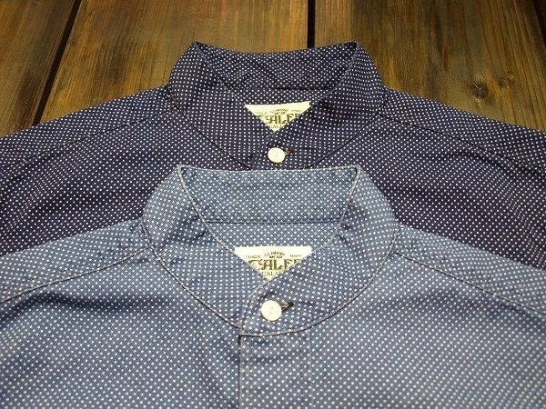 CALEE キャリー スタンドカラーシャツ ドットシャツ (3).JPG