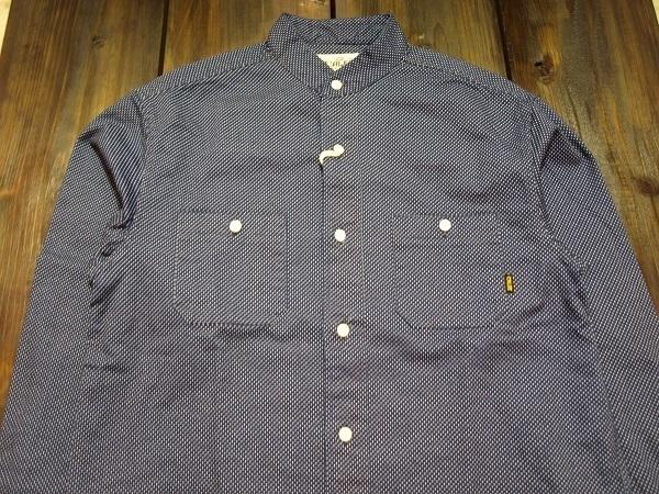 CALEE キャリー スタンドカラーシャツ ドットシャツ (4).JPG