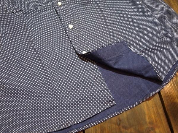 CALEE キャリー スタンドカラーシャツ ドットシャツ (5).JPG