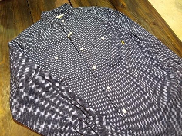 CALEE キャリー スタンドカラーシャツ ドットシャツ (6).JPG