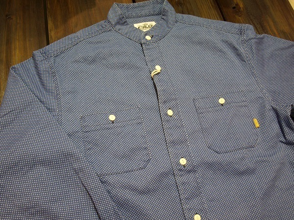 CALEE キャリー スタンドカラーシャツ ドットシャツ (7).JPG