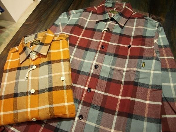 CALEE チェックネルシャツ.JPG