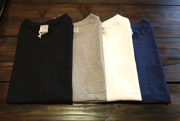 CALEE V-NECK POKET Tシャツ1.JPG