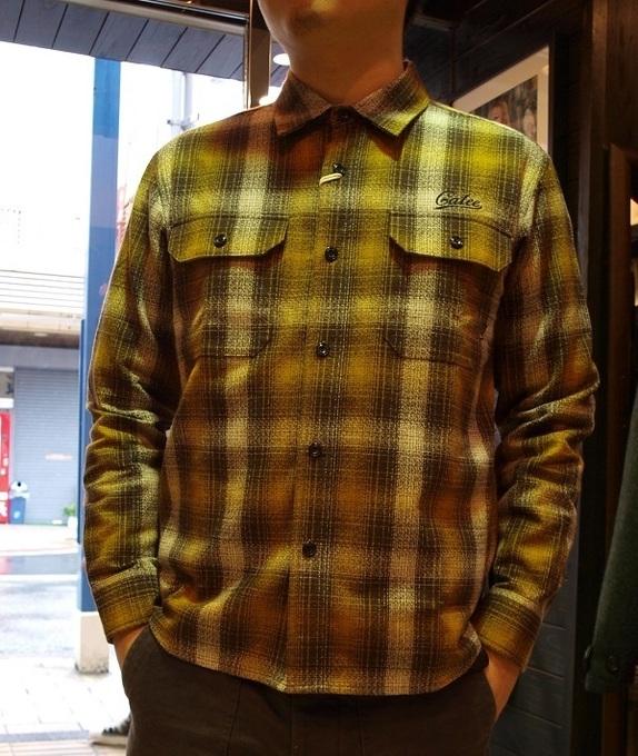 CALEE  チェックシャツLS AMUNZEN CHECK SHRTS (3).JPG