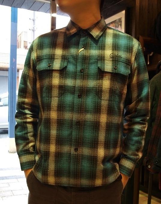 CALEE  チェックシャツLS AMUNZEN CHECK SHRTS (5).JPG