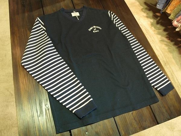 CLUCT クラクト ボーダーカットソー Tシャツ 2016春夏 (6).JPG