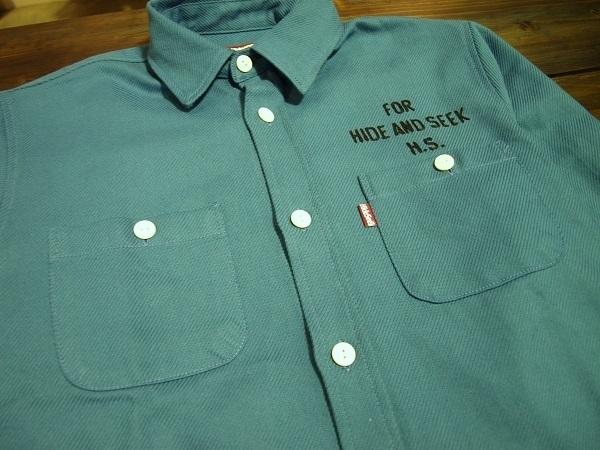 HIDE AND SEEK ハイドアンドシーク ツイルワークシャツ.JPG