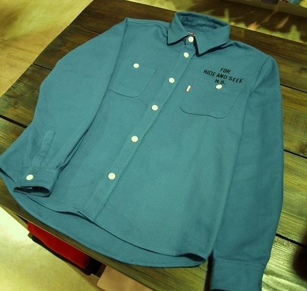 HIDE AND SEEK ハイドアンドシーク ツイルワークシャツ (2).JPG