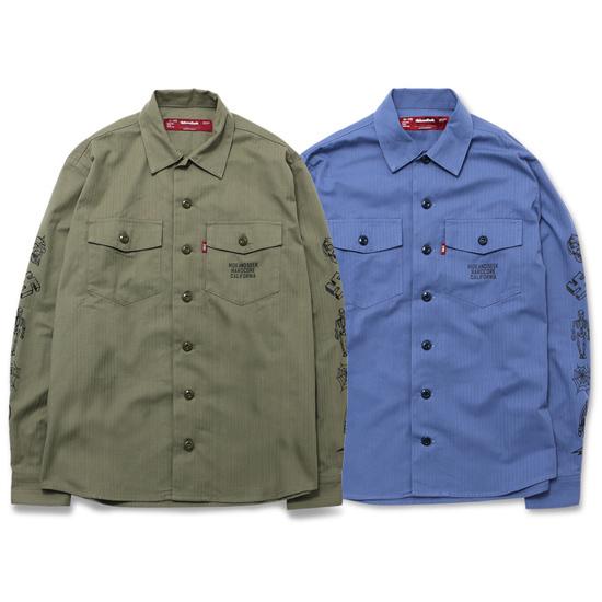 HIDEANDSEEK ハイドアンドシーク ミリタリーシャツ シャツジャケット (1).jpg