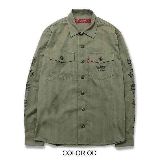 HIDEANDSEEK ハイドアンドシーク ミリタリーシャツ シャツジャケット (2).jpg