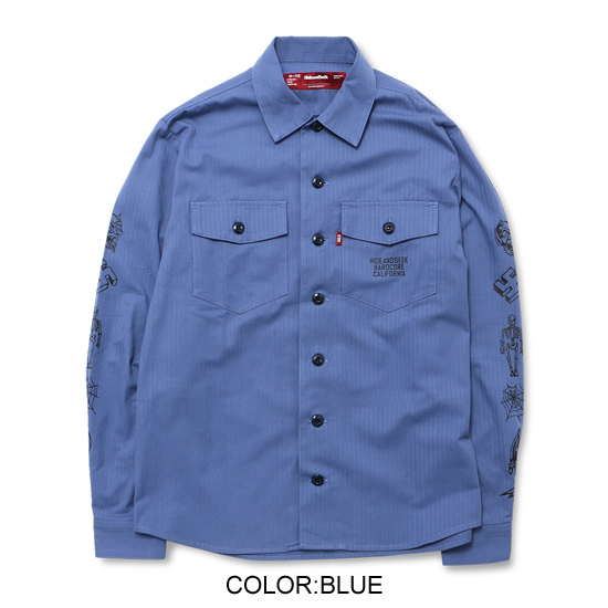 HIDEANDSEEK ハイドアンドシーク ミリタリーシャツ シャツジャケット (3).jpg